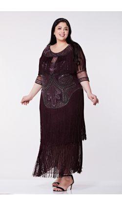feb8dfdfd3326a Glam Fringe Flapper Maxi Dress in Plum 1 ...
