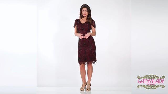 a6044a13f09 Downton Abbey Flapper Dress in Plum Plus Size