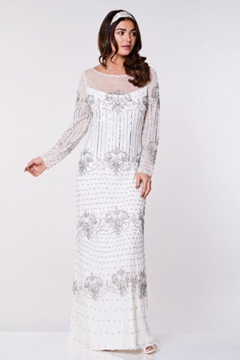 Dolores Vintage Inspired Wedding Prom Dress in White | Gatsbylady London