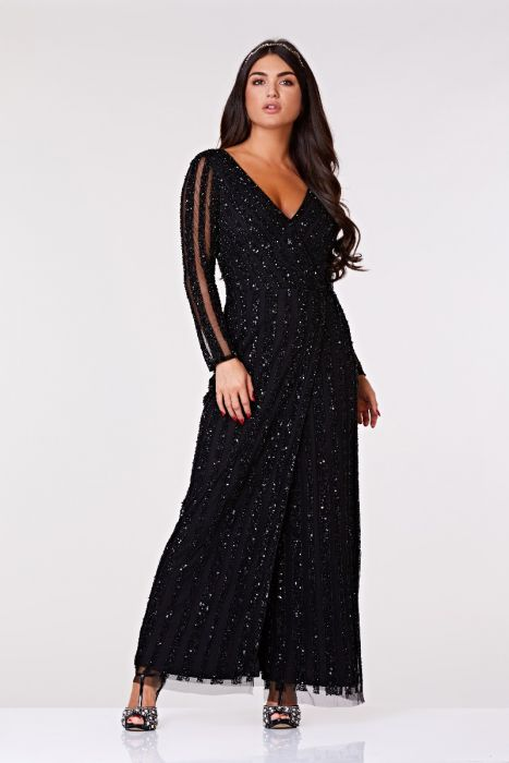 96d71910d Rosie Full Sleeve Maxi Dress in Black 1